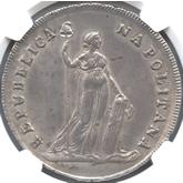 イタリア パルテノペア共和国 12カルリーニ銀貨[AU/UNC]