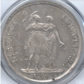 イタリア ジェノヴァ リグーリア共和国 8リレ銀貨[完全未使用品]