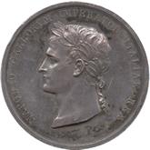 イタリア ナポレオンイタリア王戴冠記念銀メダル[Toned EF+]