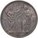 イタリア ナポレオンイタリア王戴冠記念銀メダル[Toned EF+]【裏面】
