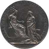 イタリア チザルピーナ共和国 1スクード銀貨[Toned EF+/UNC]