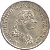 英領ギアナ ジョージ3世 3ギルダー銀貨[EF]