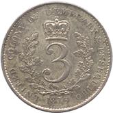 英領ギアナ ジョージ3世 3ギルダー銀貨[EF]【裏面】