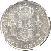 ボリビア カルロス3世 8レアル銀貨[FDC]【裏面】