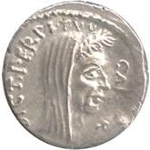 共和政ローマ デナリウス銀貨 ジュリアス・シーザー[EF+]