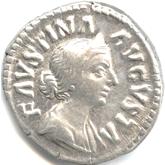 帝政ローマ デナリウス銀貨 ファウスティナ・ミノル[VF]