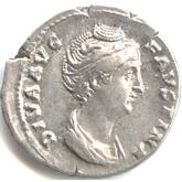 帝政ローマ デナリウス銀貨 ファウスティナ[VF]