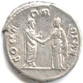 帝政ローマ デナリウス銀貨 ファウスティナ[VF]【裏面】