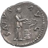 帝政ローマ デナリウス銀貨 第14代皇帝ハドリアヌス[Toned EF]【裏面】