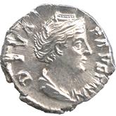帝政ローマ デナリウス銀貨 ファウスティナ[EF+]