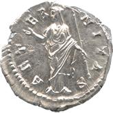 帝政ローマ デナリウス銀貨 ファウスティナ[EF+]【裏面】