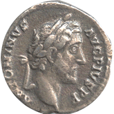 帝政ローマ アントニヌス・ピウス デナリウス銀貨[VF]