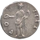 帝政ローマ アントニヌス・ピウス デナリウス銀貨[VF]【裏面】