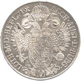 神聖ローマ帝国 皇帝ヨーゼフ2世 1ターレル銀貨[EF+]【裏面】