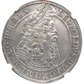 神聖ローマ帝国 レオポルド1世 1ターレル銀貨[UNC]