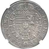 神聖ローマ帝国 レオポルド1世 1ターレル銀貨[UNC]【裏面】