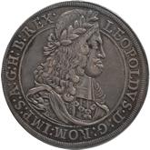 神聖ローマ帝国 レオポルド1世 1ターレル銀貨[Tone EF]