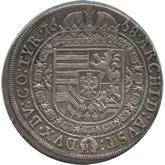 神聖ローマ帝国 レオポルド1世 1ターレル銀貨[Tone EF]【裏面】