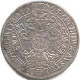 神聖ローマ帝国 レオポルド1世 1ターレル銀貨[EF]【裏面】
