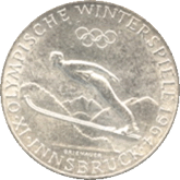 オーストリア インスブルックオリンピック記念50シリング銀貨