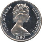 マン島 レークプラシッドオリンピック記念1クラウン銀貨