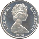 マン島 サラエボオリンピック記念1クラウン銀貨