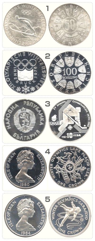 オリンピック記念銀貨5枚セットその1