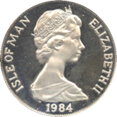 マン島 ロサンゼルスオリンピック記念1クラウン銀貨
