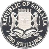 ソマリア 長野オリンピック記念250シリング銀貨【裏面】
