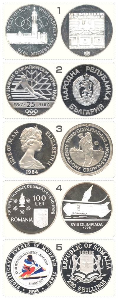 オリンピック記念銀貨5枚セットその2