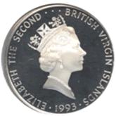 イギリス領  ヴァージン諸島 25ドル銀貨 ユキヒョウ【裏面】