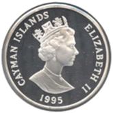 ケイマン諸島 1ドル銀貨 ブルーイグアナ【裏面】
