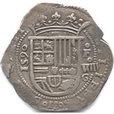 スペイン フェリペ2世 8レアル銀貨[EF+]