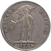 スイス ヘルベティア共和国 20バッツェン銀貨[EF+]