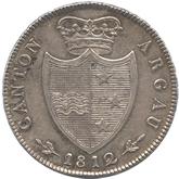 スイス アールガウ 4フラン銀貨[EF]【裏面】