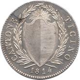 スイス ティッシーノ 4フランキ銀貨[UNC]【裏面】