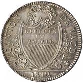 スイス ヴァウド 40バッツェン銀貨[Toned UNC]【裏面】