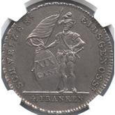 スイス ソロッツルン 4フランケン銀貨[EF+]