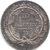 スイス ヘルベティア共和国 10バッツェン銀貨[Tone AU/UNC]【裏面】