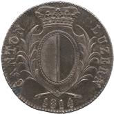 スイス ルッツェルン 4フランケン銀貨[Toned EF+]【裏面】