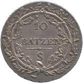 スイス ヘルベティア共和国 10バッツェン銀貨[Toned EF]【裏面】