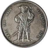 スイス ベルン 射撃祭記念 5フランケン銀貨[Tone AU]
