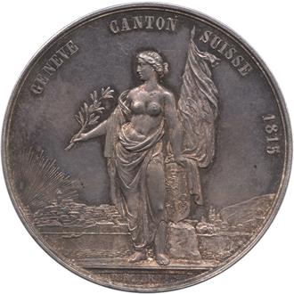 ジュネーブ射撃祭記念 1ターレル銀貨(表のデザイン)