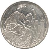 スイス シャファウゼン射撃祭記念 5フラン銀貨[AU]