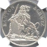 スイス シュヴィーツ射撃祭記念 5フラン銀貨[AU/UNC]